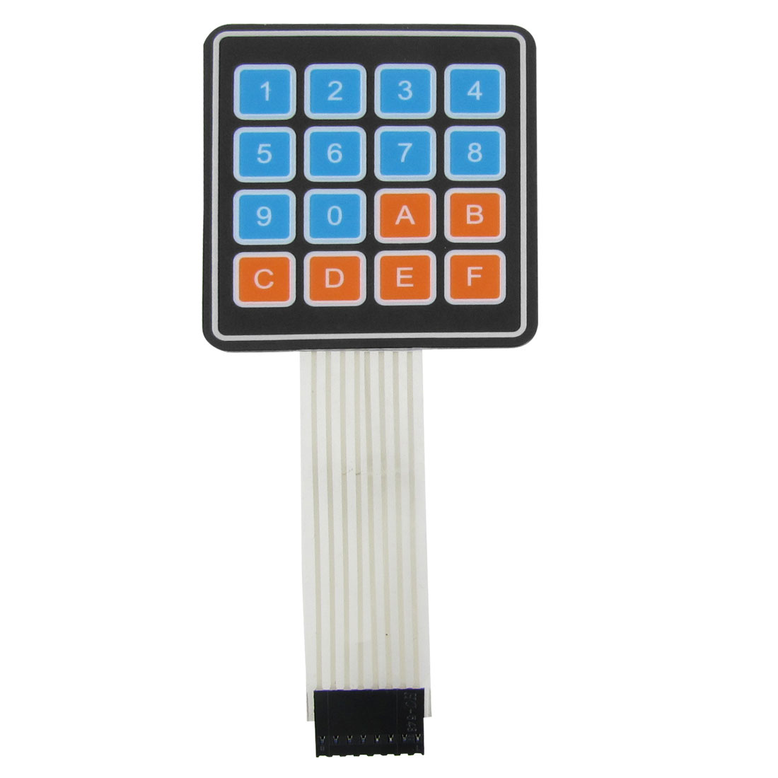 4x4 16 Key Matrix DIY Membrane Switch Touch Pad 65x60x0.8mm DC 12V 30mA