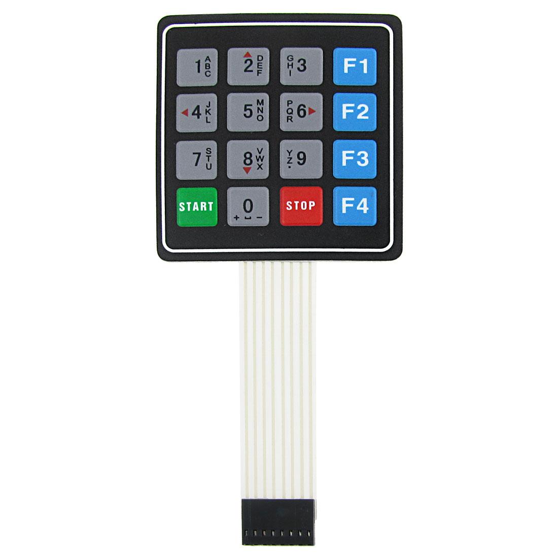 Universal 4x4 16 Key Matrix Membrane Switch Keypad Keyboard 76x69x0.8mm