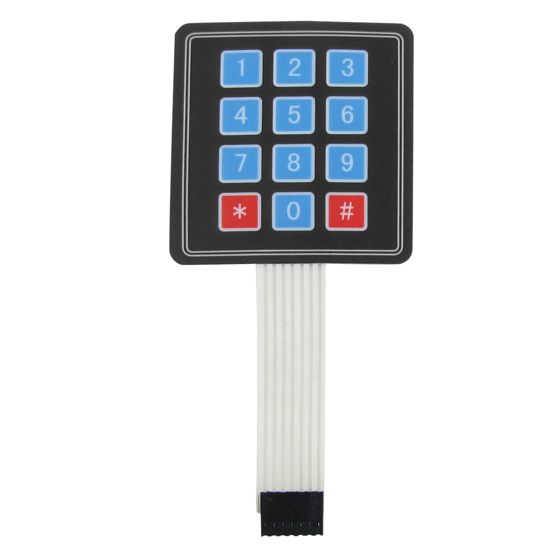 3x4 12 Key Matrix DIY Membrane Switch Touch Pad 77x69x0.8mm DC 12V