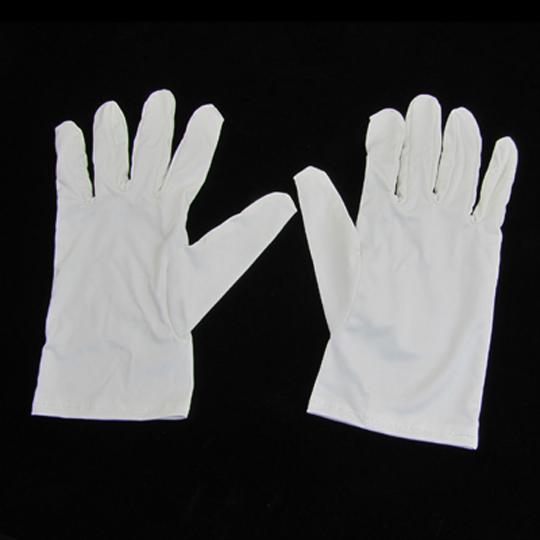 Solid White Microfiber Dust Proof Full Finger Working Protective Gloves