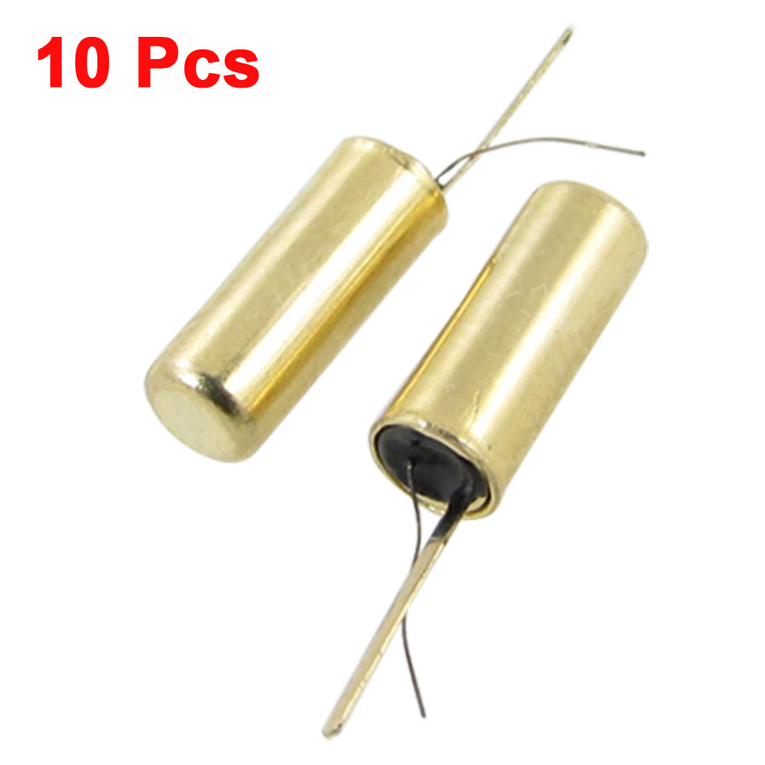 10 Pcs 12V 10M Ohm Mini Vibration Switch Sensor Gold Tone SW-58020