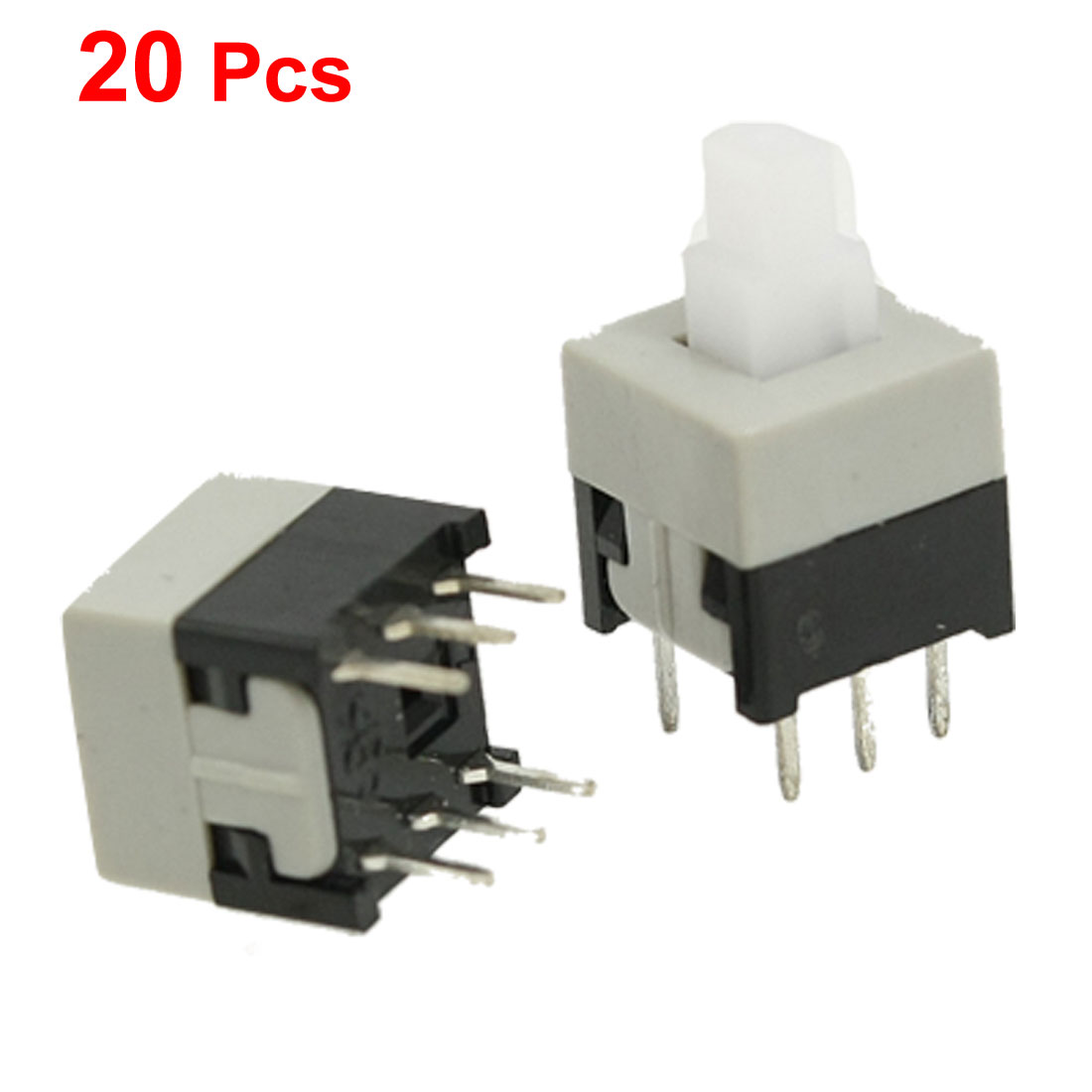20 Pcs 8.5mm x 8.5mm Square Momentary Push Button Switch for Flashlight