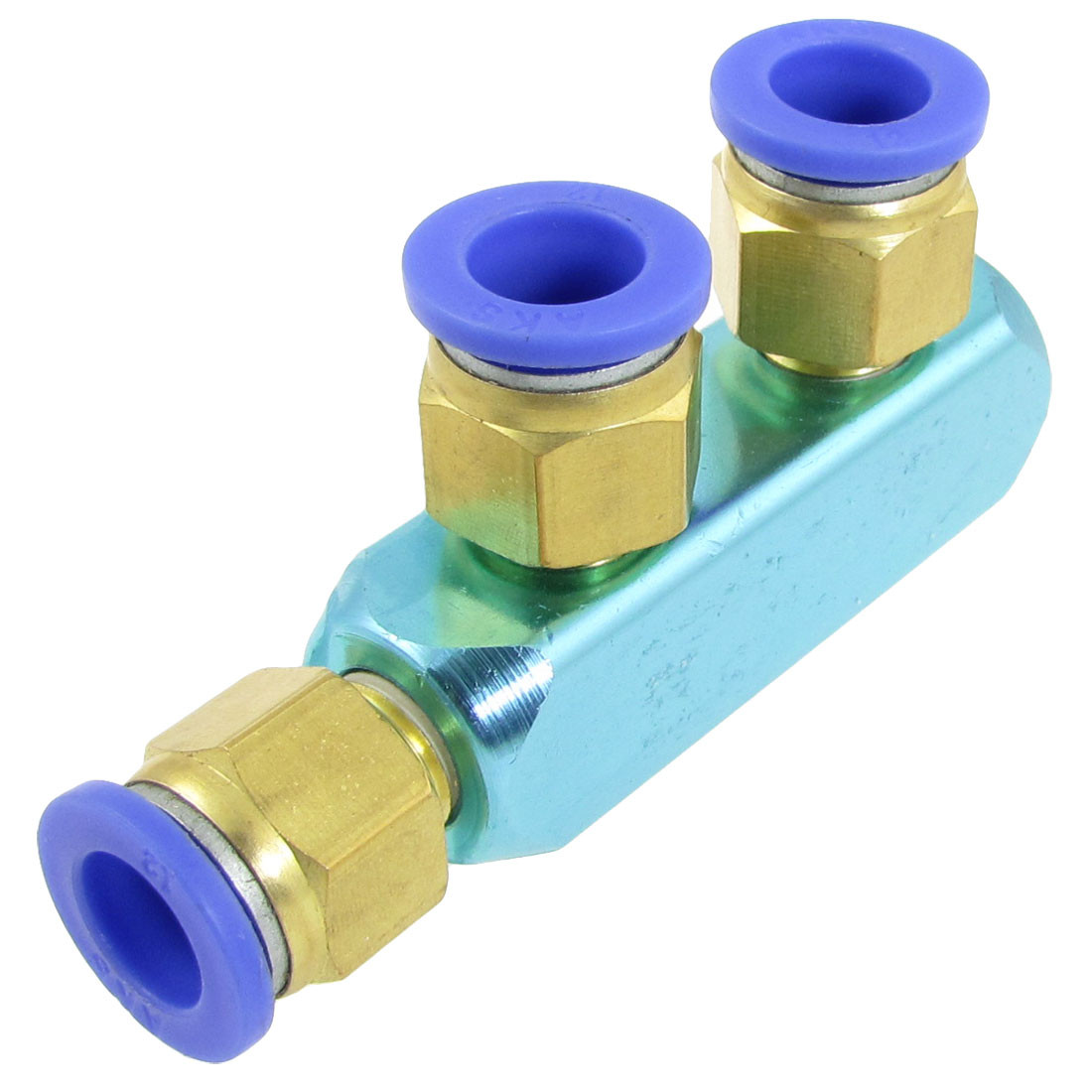 Pneumatic Air Hose Fitting 12mm 3 Way Push in Quick Coupler