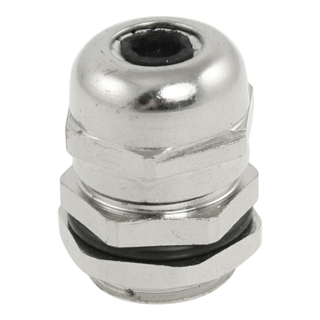 Silver Tone PG9 Waterproof 4-8mm Cable Gland Connector