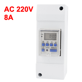 AC 220V 16A Digital LCD Display Week Covered Programmable Timer Switch