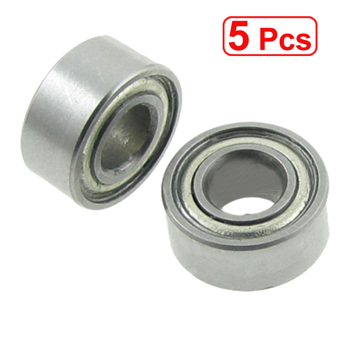 5 Pcs Double Sealed 3 x 7 x 3mm Deep Groove Ball Bearings