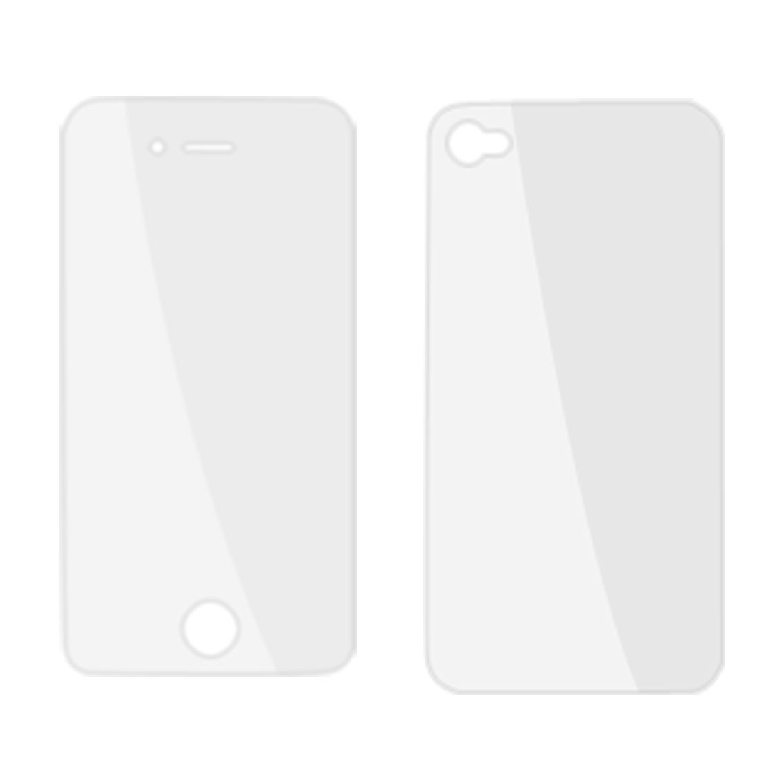 2 x Front Back Clear LCD Screen Guard Film Protector for iPhone 4 4G