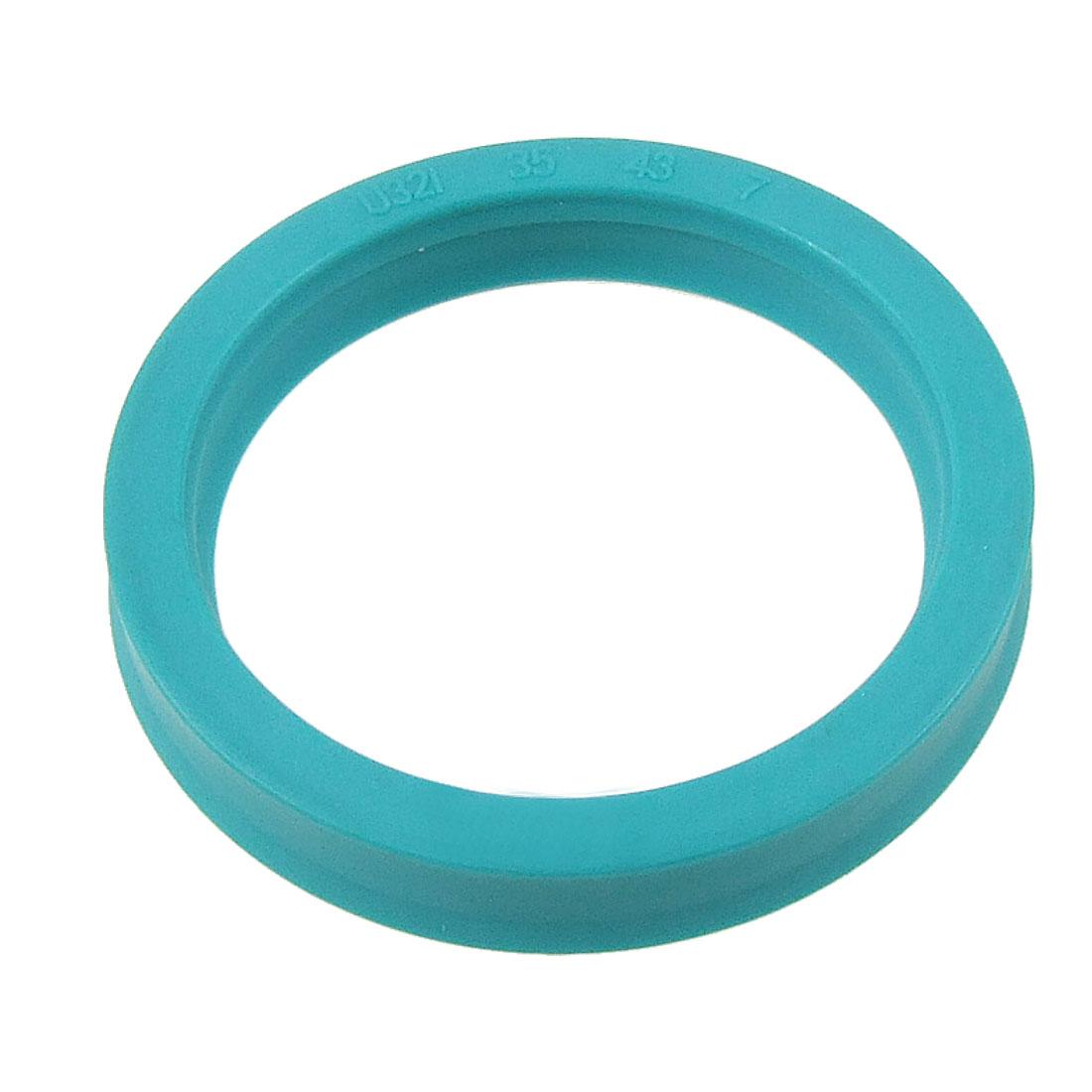 PU Polyurethane 35x43x7mm U32i Hydraulic Cylinder Rod Single Lip U Cup Oil Seal