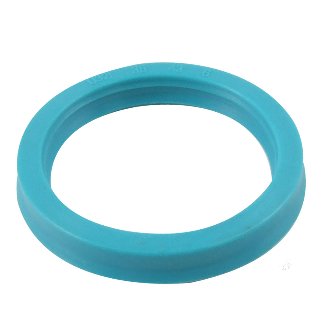 Cyan Blue PU Hydraulic Piston Rod Metric U Cup Oil Seal Ring 35mm x 43mm x 6mm U32i