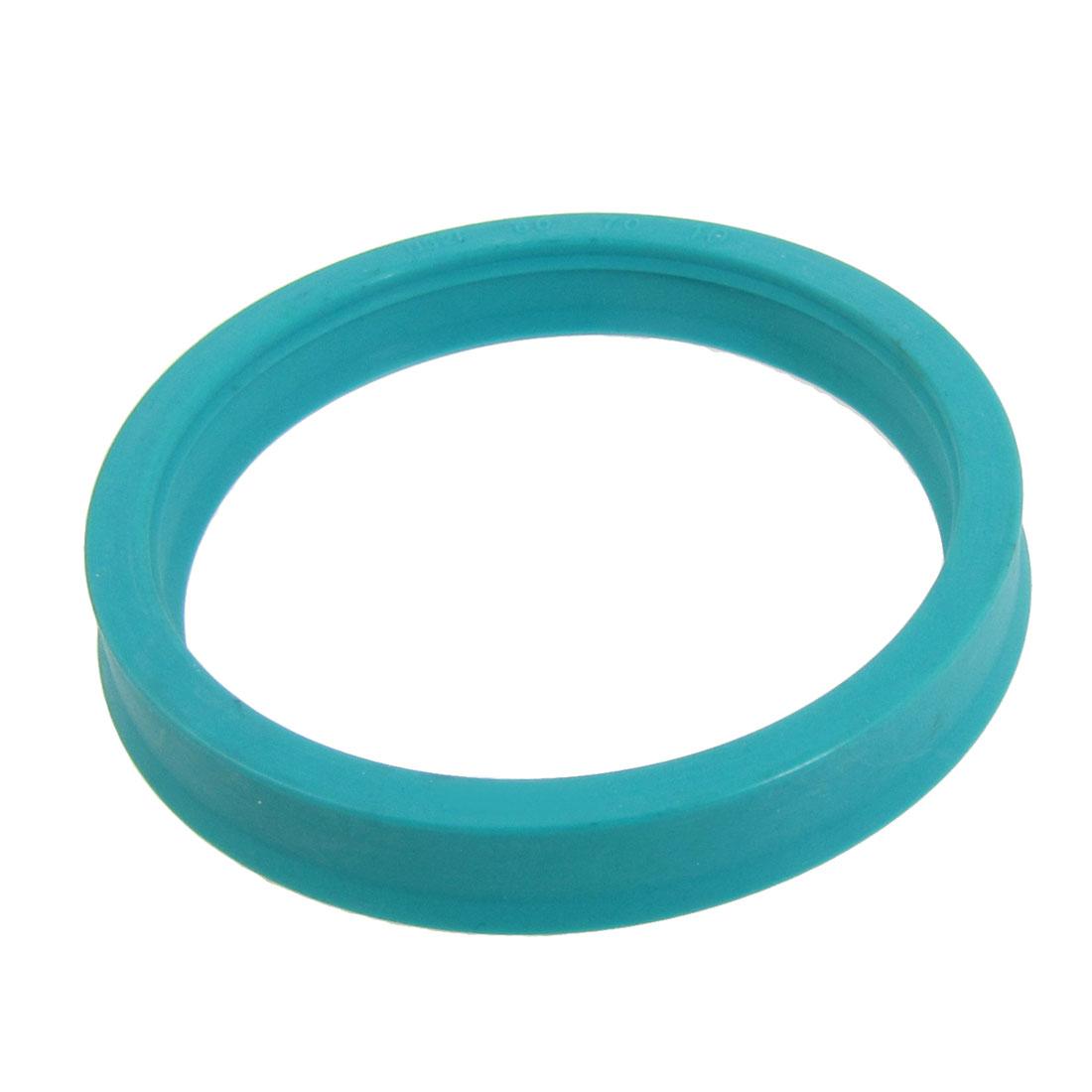 Cyan Blue U32i Single Lip Metric Hydraulic Rod U Cup PU Oil Seal Ring 60x70x10mm
