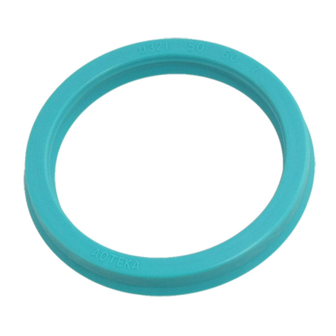 """Cyan Blue Polyurethane PU 1.97"""" x 2.36"""" x 0.27"""" Oil Seal Ring U32i"""