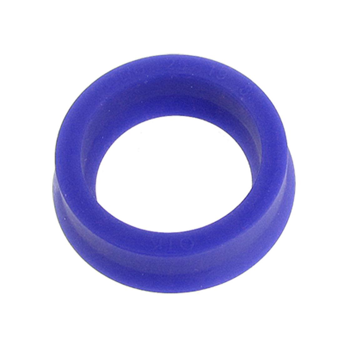 25mm x 19mm x 8mm Polyurethane Cylinder Piston Oil Seal Blue ODU