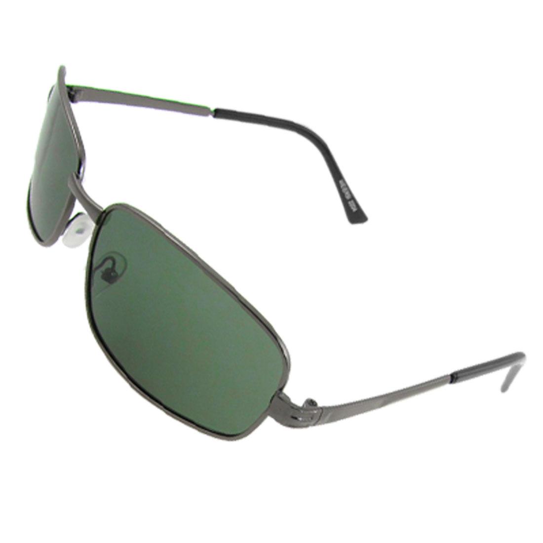 Unisex Dark Gray Metal Full Rim Driving Polarized Sunglasses