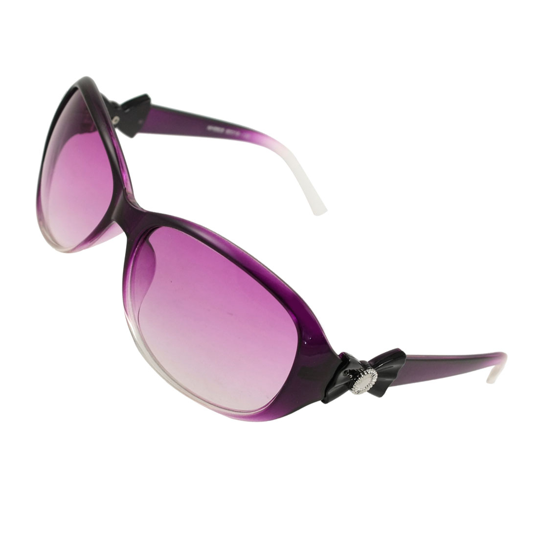Ladies Purplish Lens Plastic Full Rim Eyewear Sunglasses