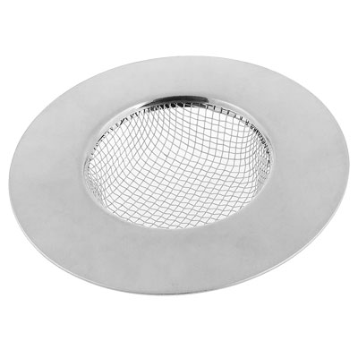 Scraps Stopper Silver Tone Stainless Steel Sink Basin Strainer