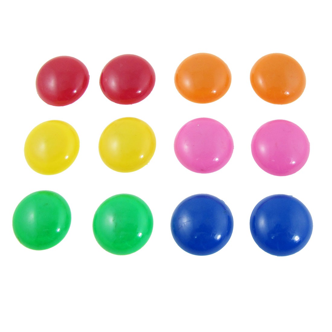 12 Pcs 6 Colors 30mm Dia Round Fridge Magnets Paper Holder Set