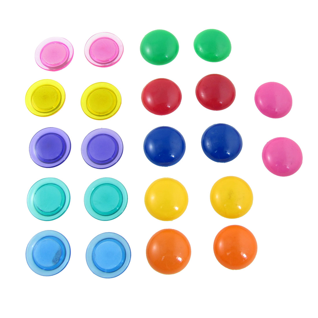 22 Pcs 30mm Dia Round Fridge Magnet Magnetic Sticker Paper Memo Holder Set