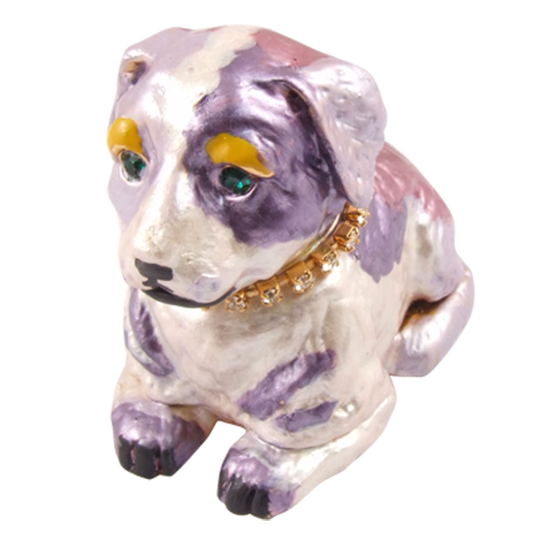 Mauve Metal Mini Dog Tabltop Cabinet Car Ornament Decoration