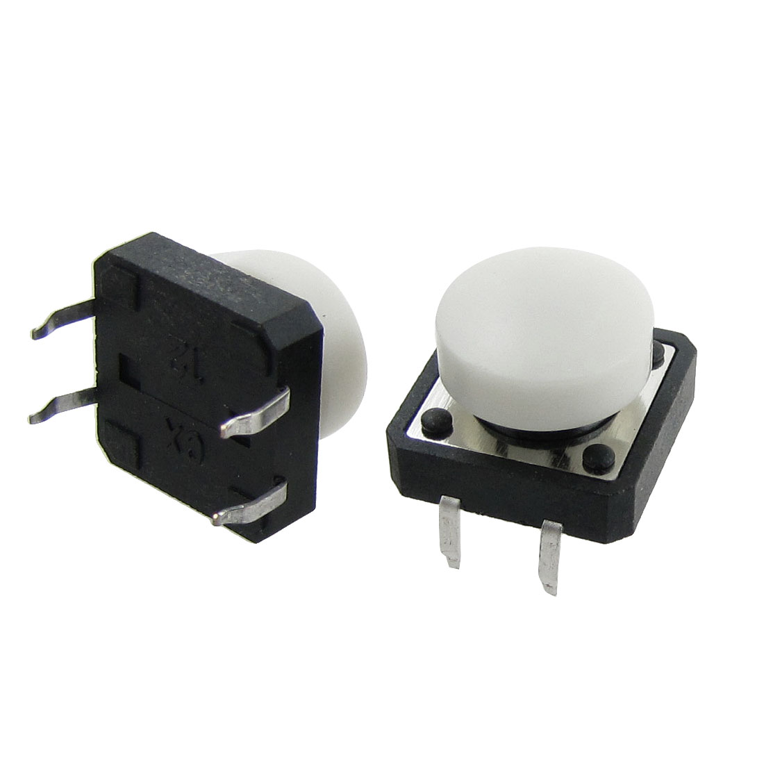 10 Pcs Momentary Tact Tactile Push Button Switch 12 x 12 x 12mm 4 Pin DIP w Cap