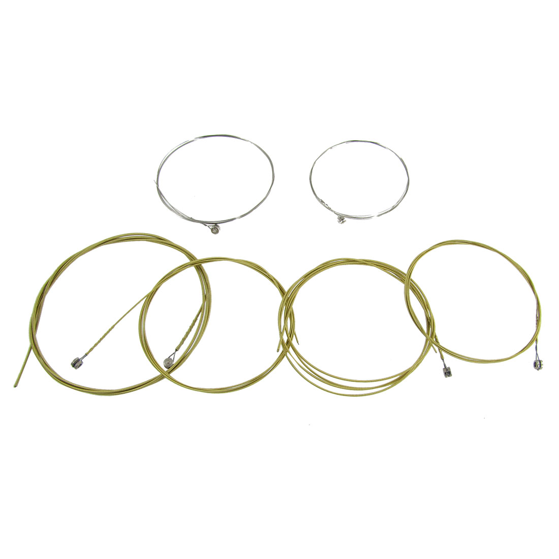 Musical Instruments Replacement 6 Pcs A406 Steel Strings Set for Acoustic Guitar