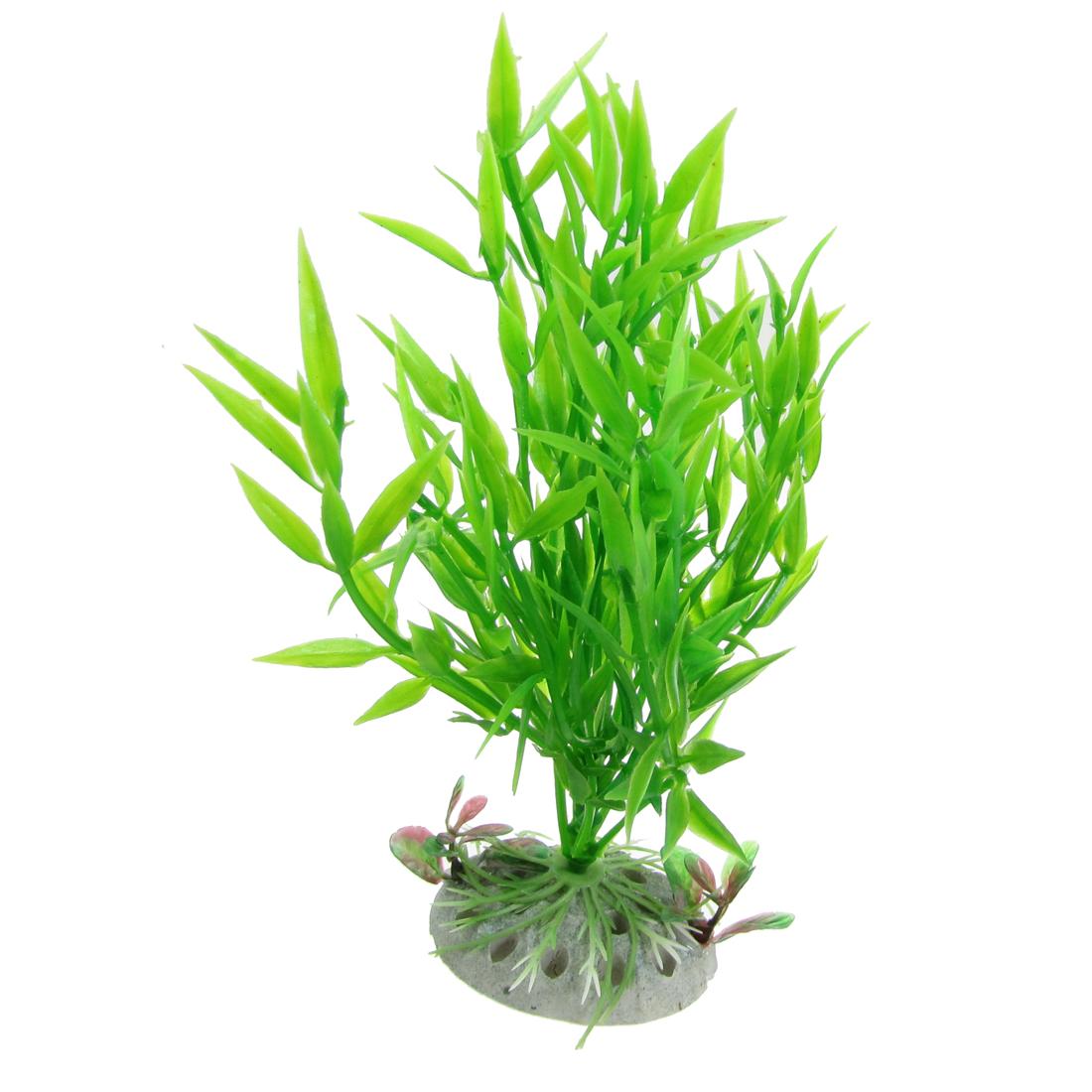 Aquarium Fish Tank Aquascaping Green Plastic Plants