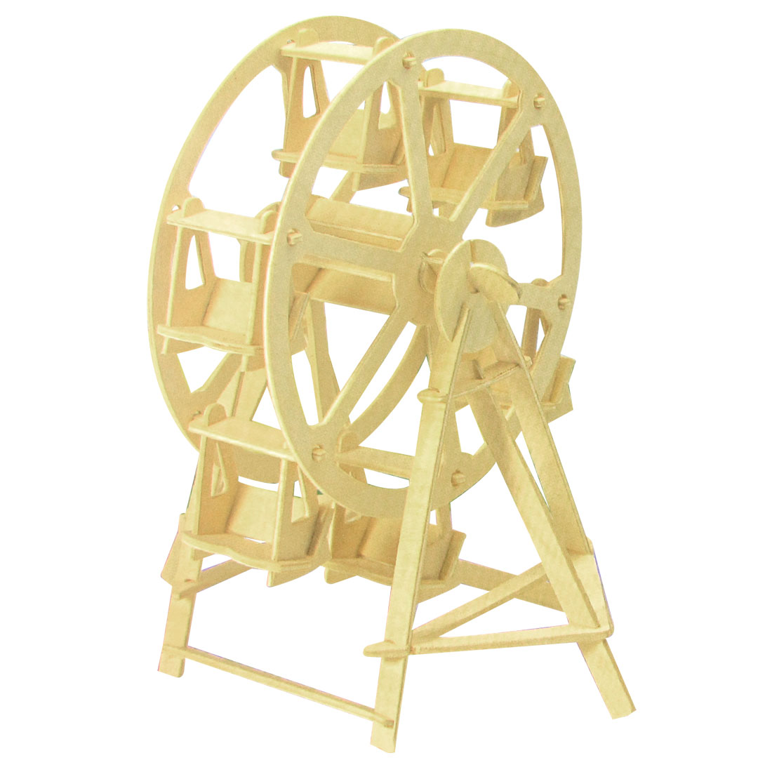 Ferris Wheel Design Wood Model Puzzle Toy Woodcraft Construction Kit