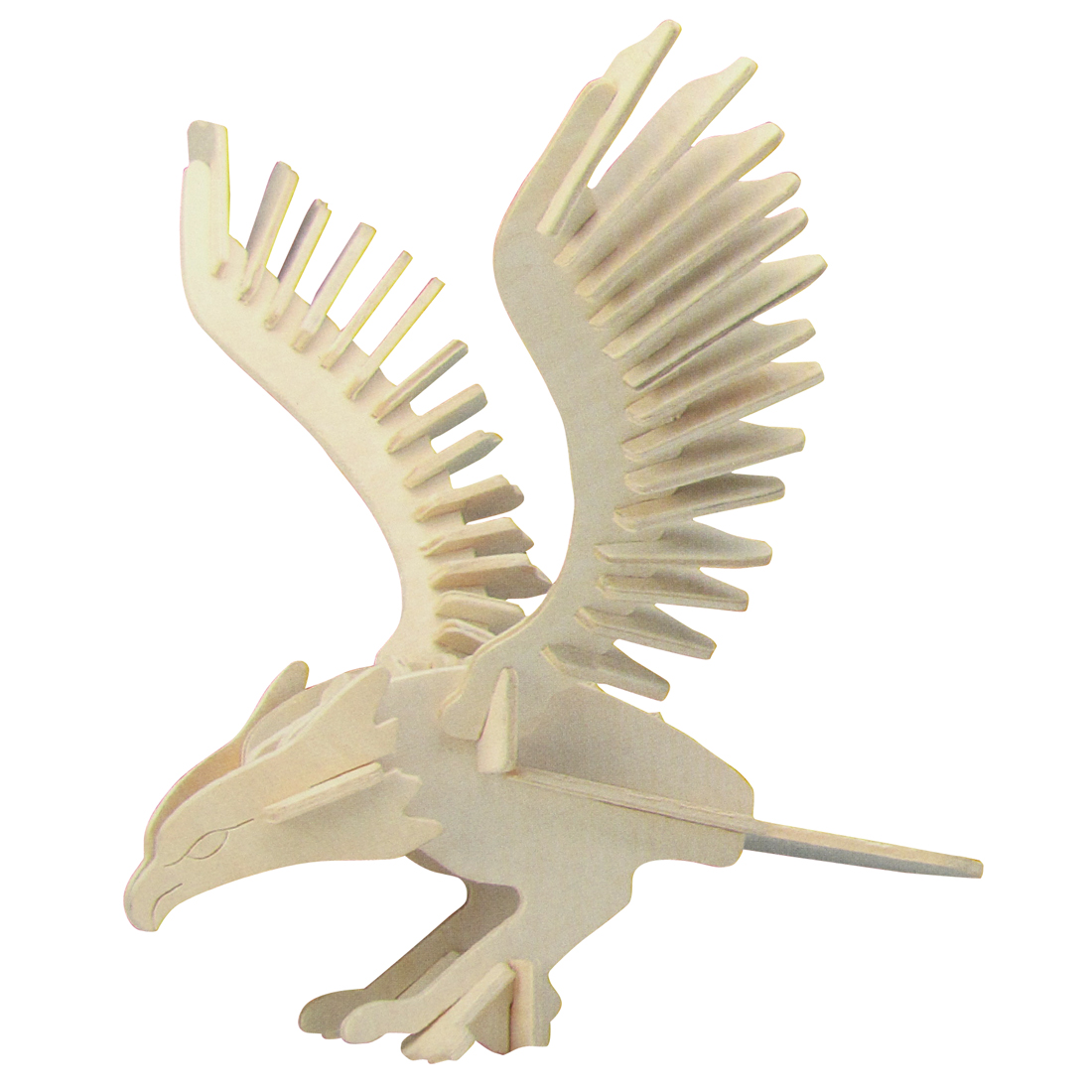 DIY Wooden Eagle 3D Educational Puzzle Toy Woodcraft Construction Kit