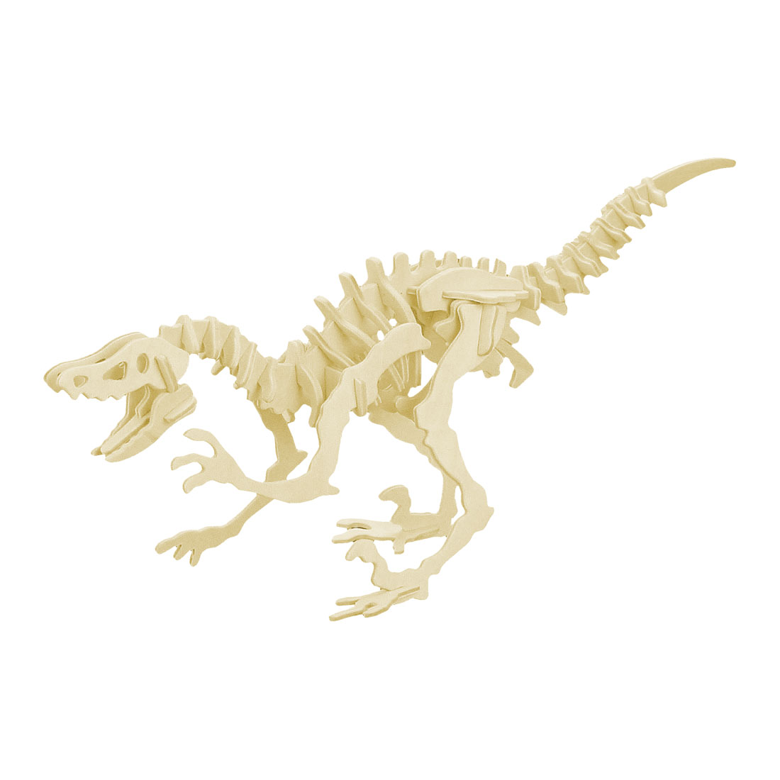 3D Woodcraft Construction Kit Wooden Dinosaur Deinonychus Model Toy