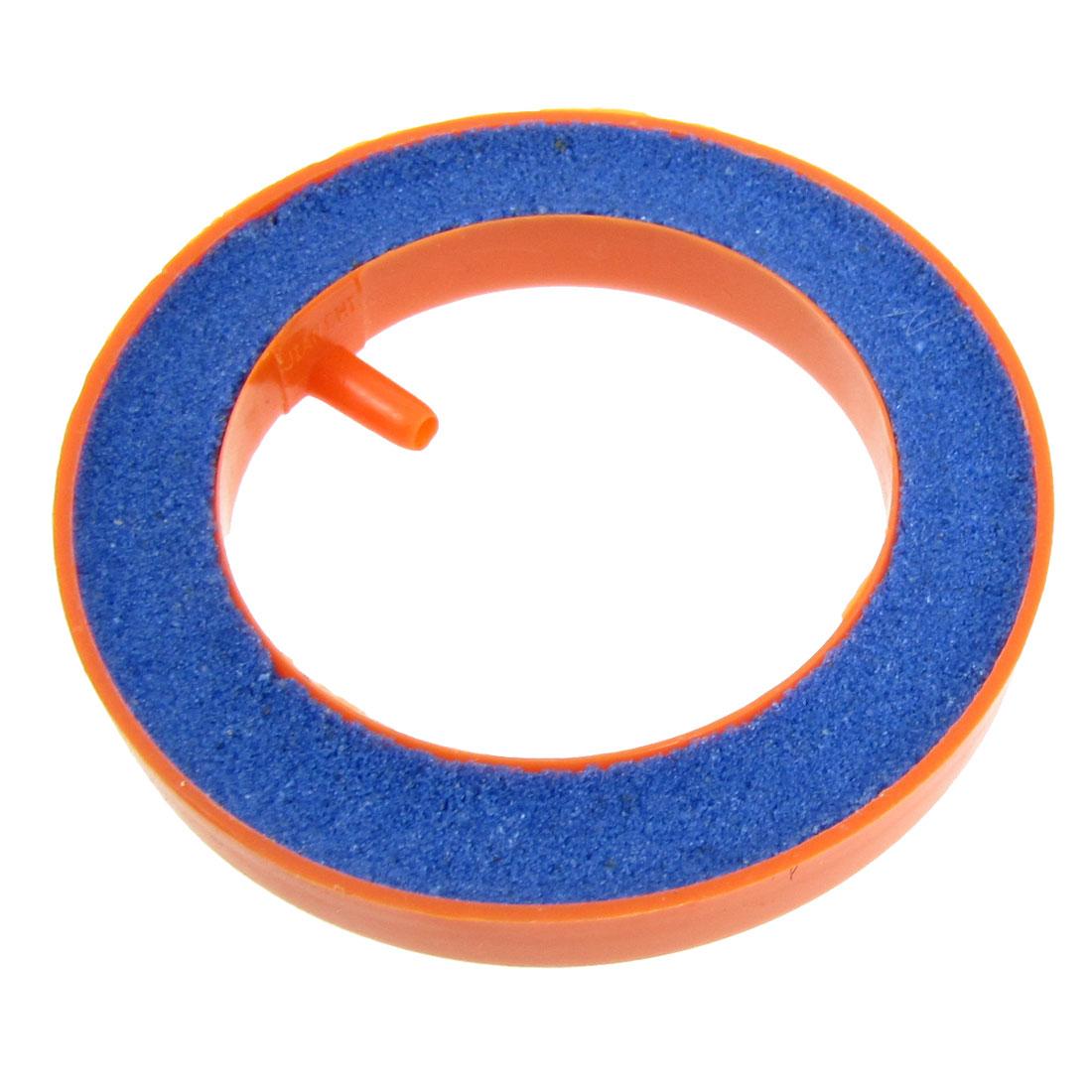 7.5cm Outer Dia Aquarium Tank Round Bubble Air Stone Orange Blue