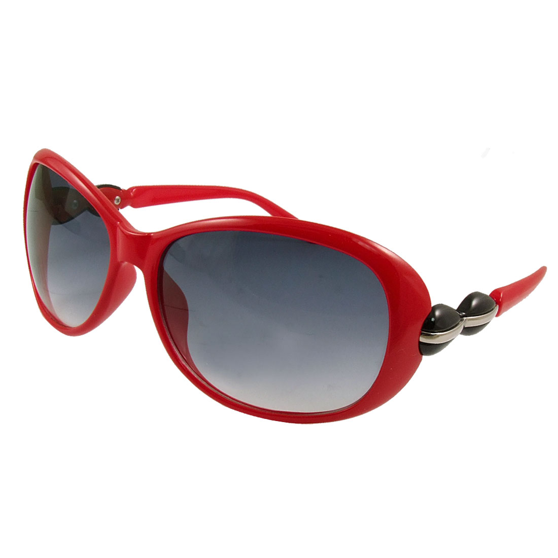 Red Plastic Full Frame Gradient Lens Sunglasses for Woman