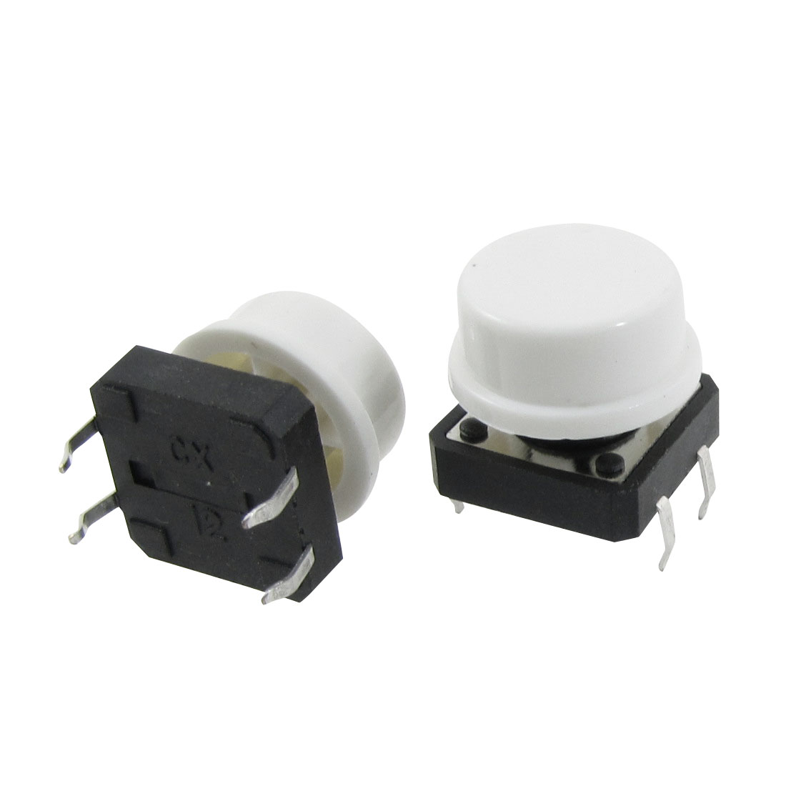 20x Momentary Tactile Push Button Switch 12x12x11mm 4 Pin DIP Through Hole w Cap