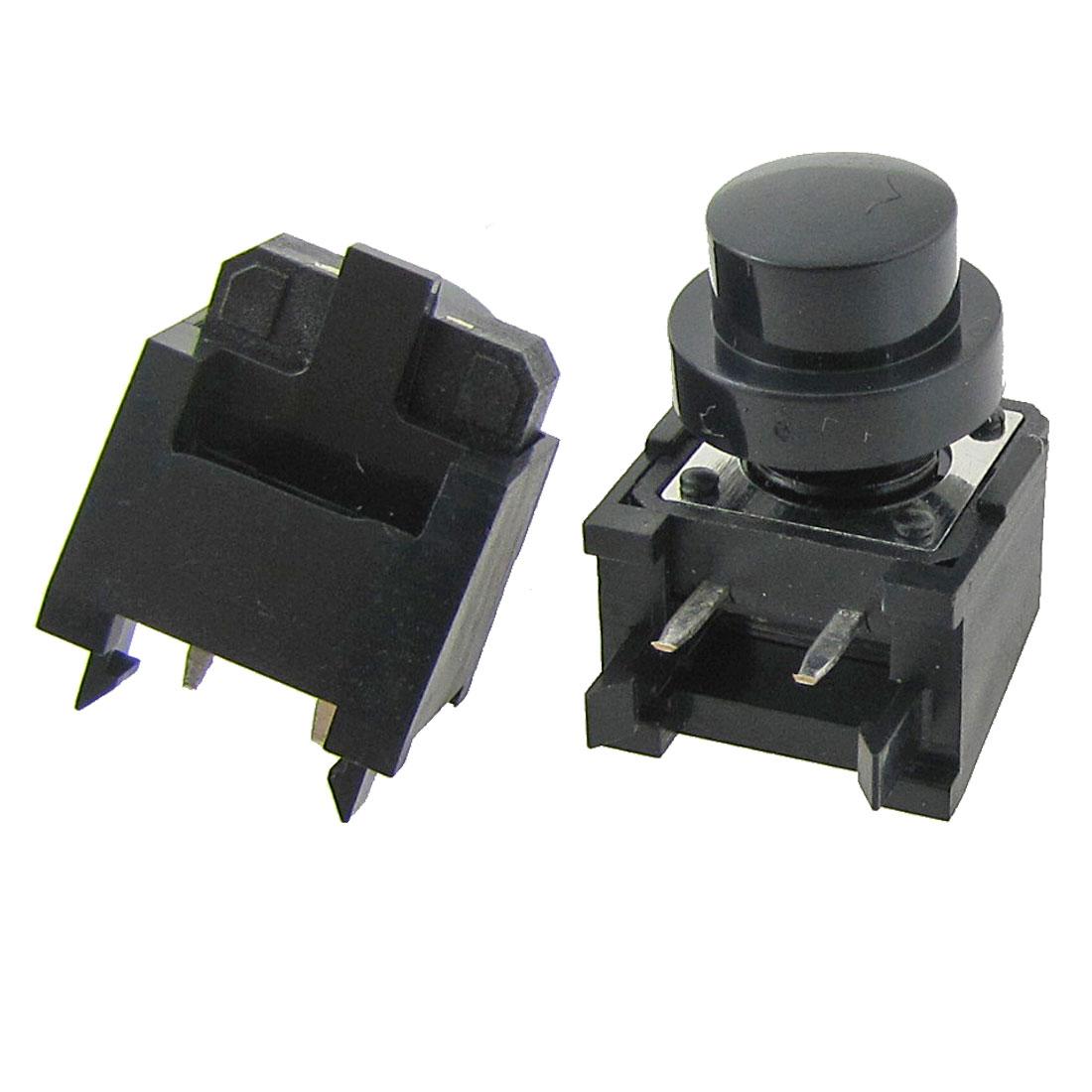 2 Pcs Momentary Tact Push Button Switch Right Angle 2 Pin 12 x 12 x 12mm + Cap