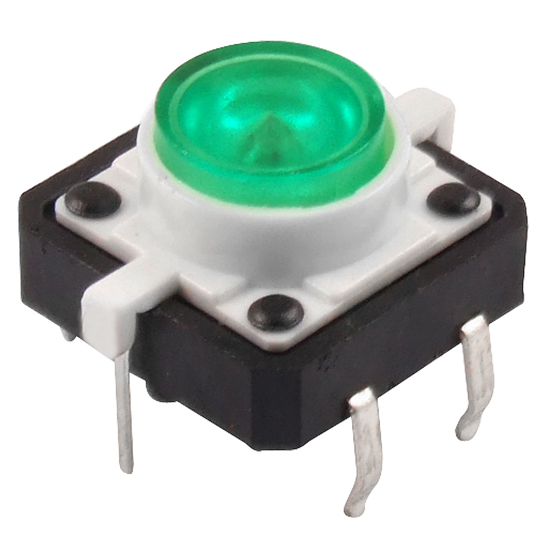 Green LED Light Momentary Tactile Tact Push Button Switch 12 x 12mm x 11mm DIP