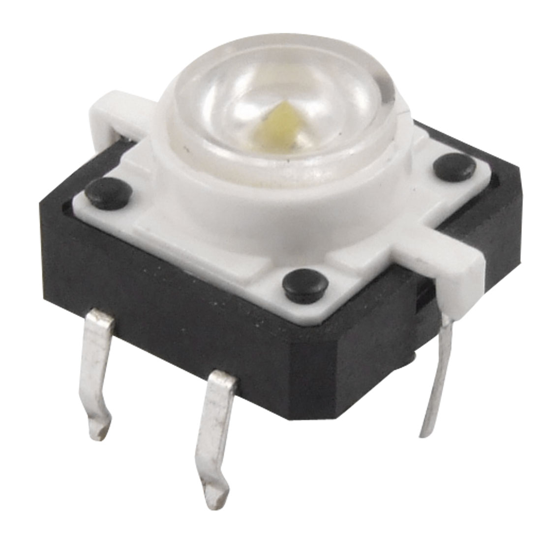 White LED Light Momentary Tactile Tact Push Button Switch 12 x 12mm x 7mm 4P DIP