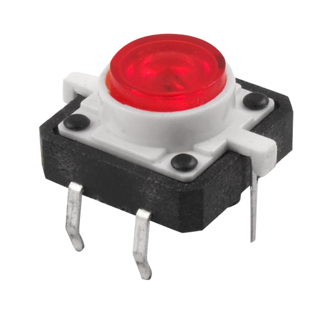 Red LED Light Momentary Tactile Tact Push Button Switch 12 x 12mm x 7mm 4Pin DIP