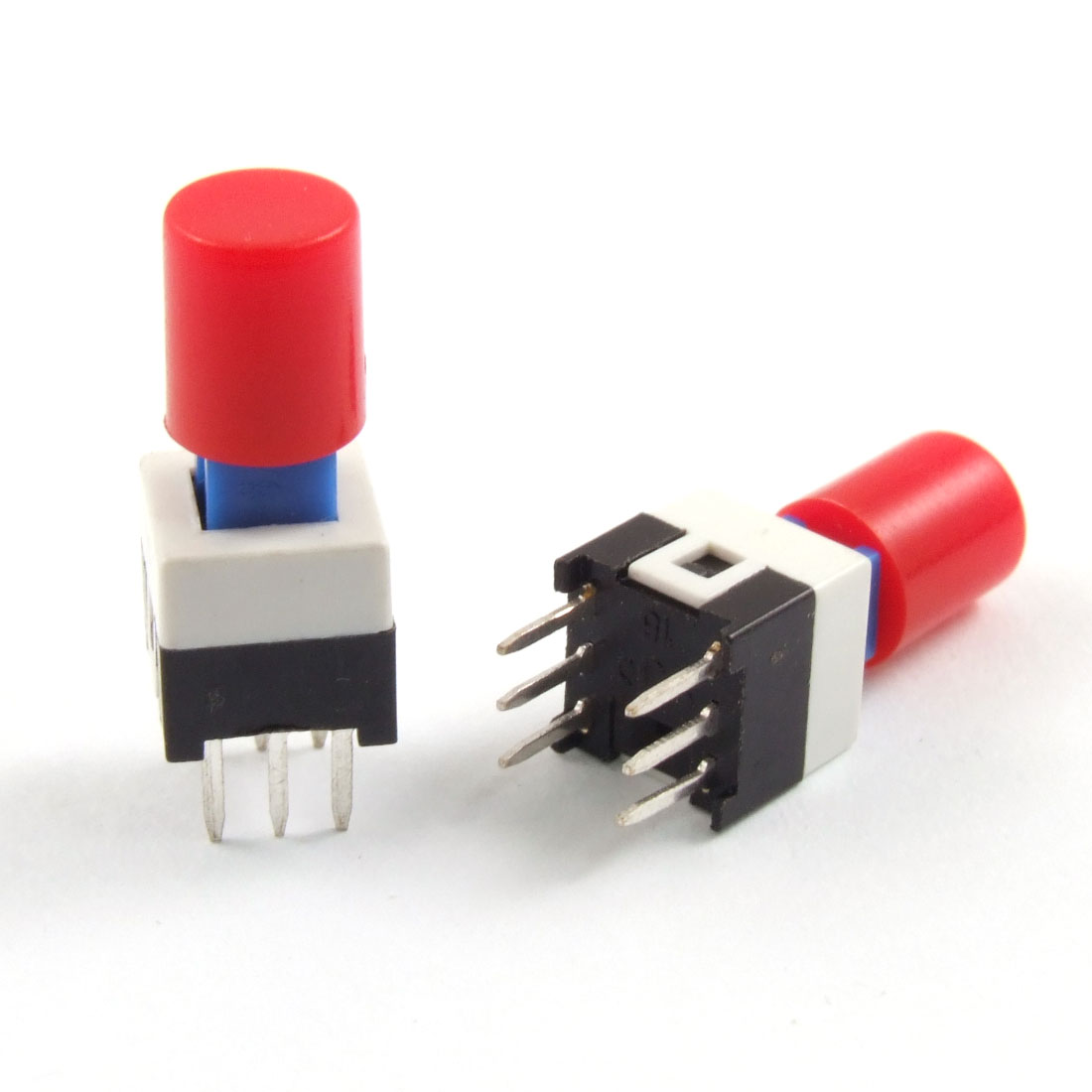 10 Pcs 6 Pin Red Cap Momentary Tactile Tact Push Button Switch 7 x 7mm x 12mm