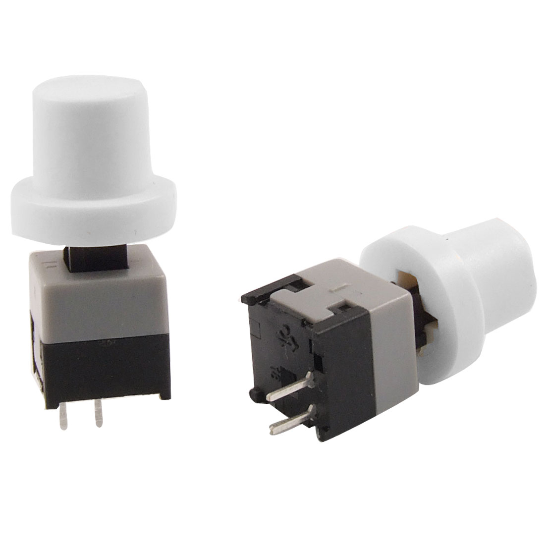 20 Pcs 2 Terminals DIP White Cap Momentary Push Button Tact Tactile Switch 8.45 x 8.45mm