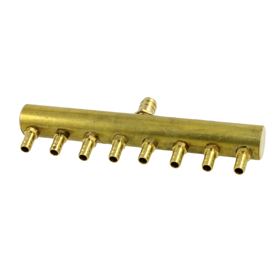 "1/5"" x 5/16"" Brass 8 Position Barbed Air Hose Fitting Coupler Connector"