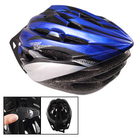 Adult Adjustable Strap Foam Plastic 22 Vents Bicycle Cycling Helmet Blue Gray