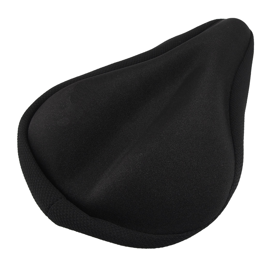 Bicycle Soft Gel Middle Hollow Black Saddle Cover Seat Cushion