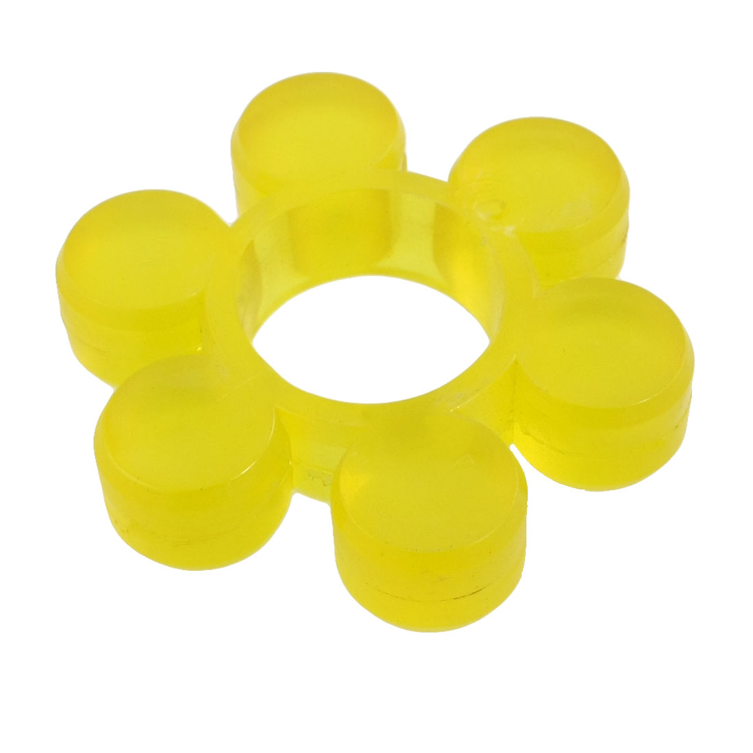 40mm Bore Diameter 6 Cylinder Petal Yellow PU Coupler Damper