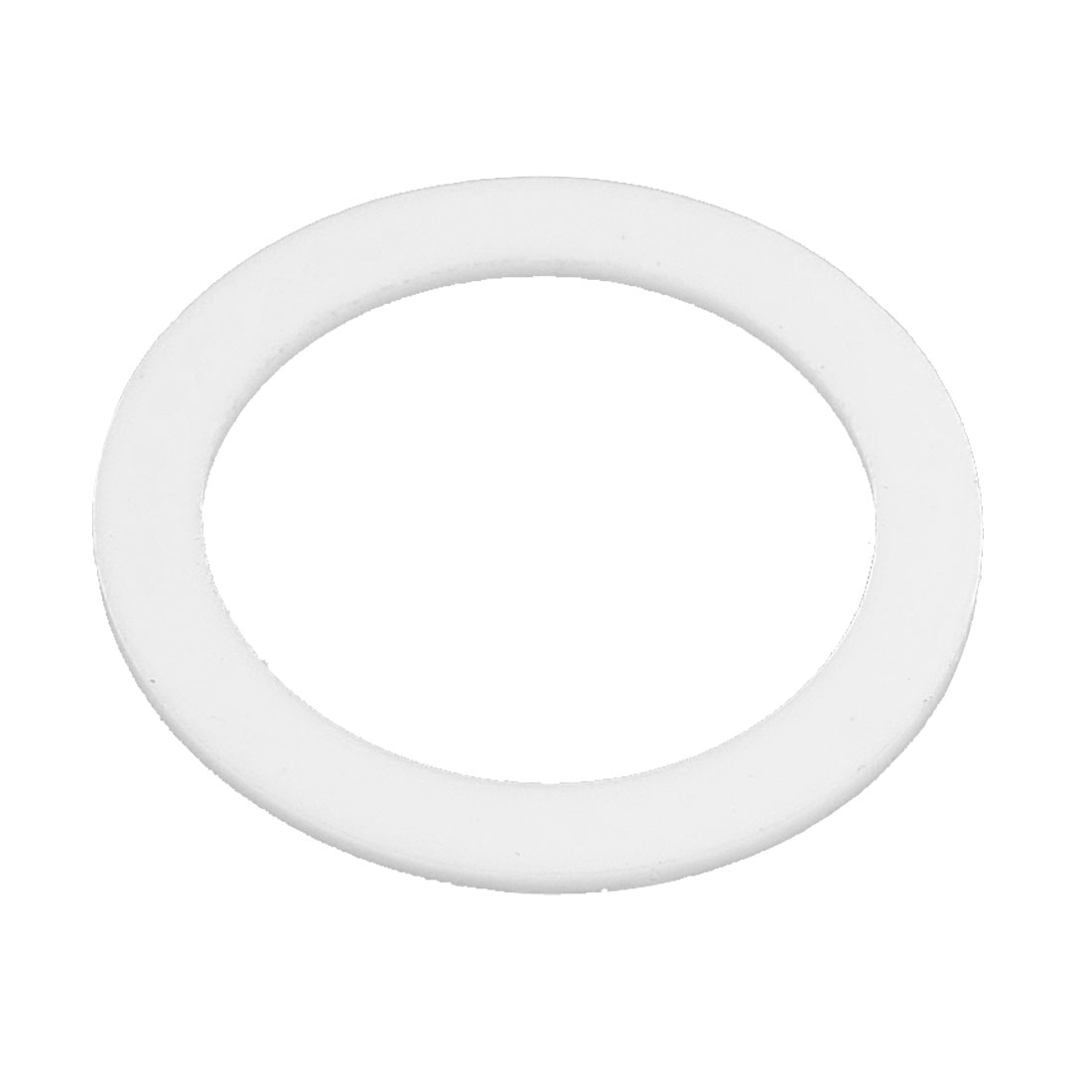 30mm x 40mm x 2mm Flat PTFE Gasket Washer White