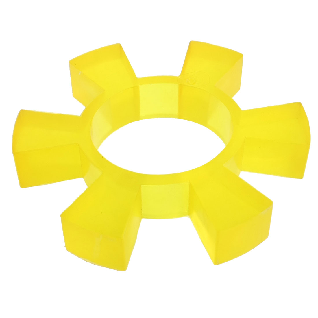 Clear Yellow 6 Petal PU Elastic Damper Coupling Insert Spider Cushion 6 1/2""