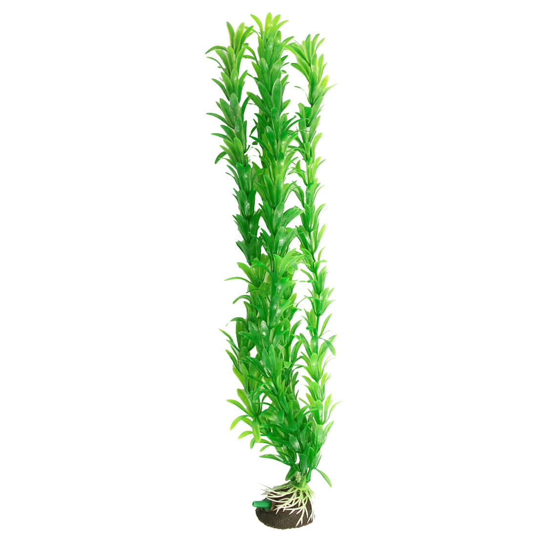 "Fish Tank Aquarium Air Stone 14.5"" Green Plastic Aquatic Plant Decor"