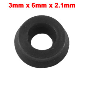 Piston Rod Shaft NBR Pneumatic Seal MYA Black 3mm x 6mm x 2.1mm