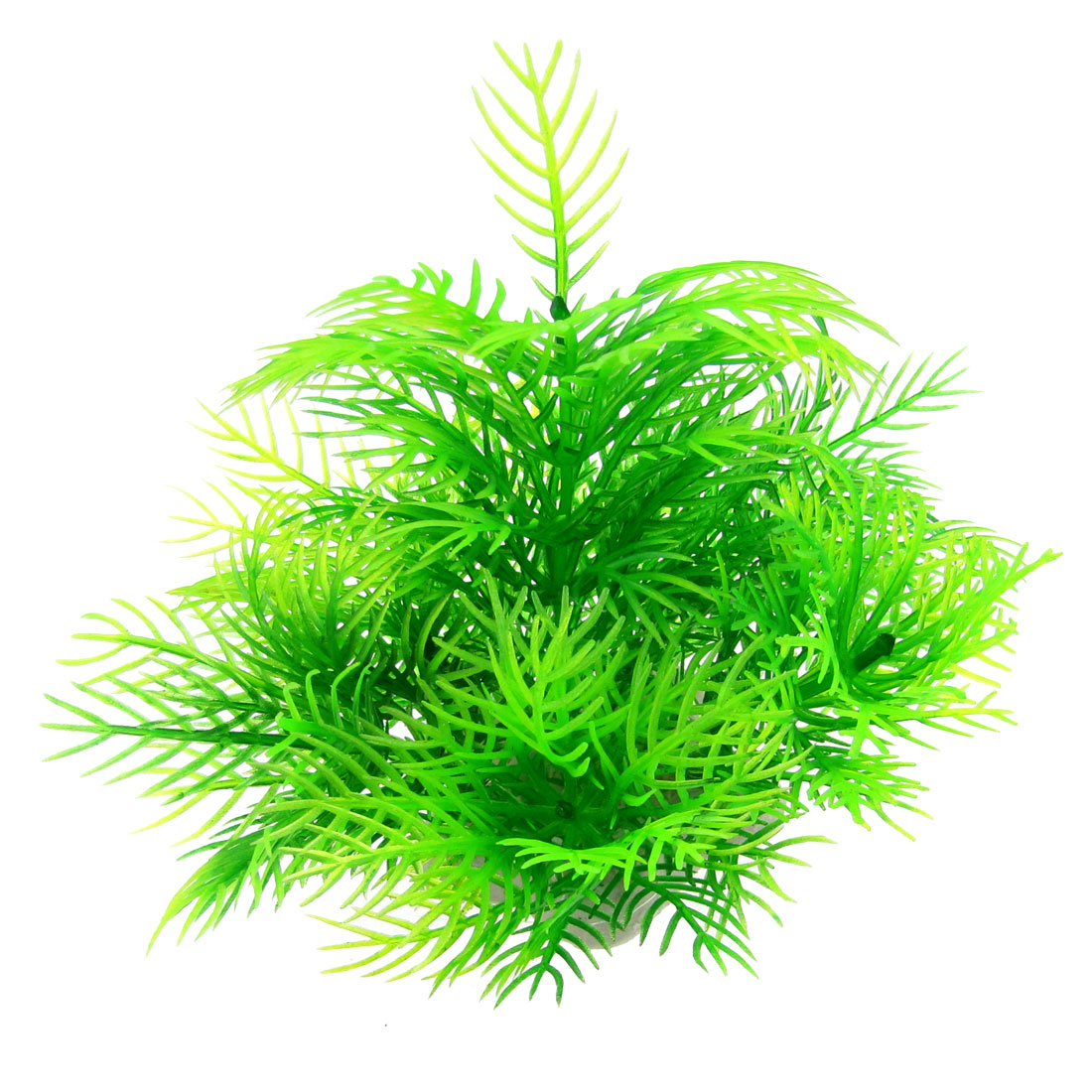 "Aquarium Fish Tank Green Leaves 3.5"" High Simulated Plastic Plant Ornament"