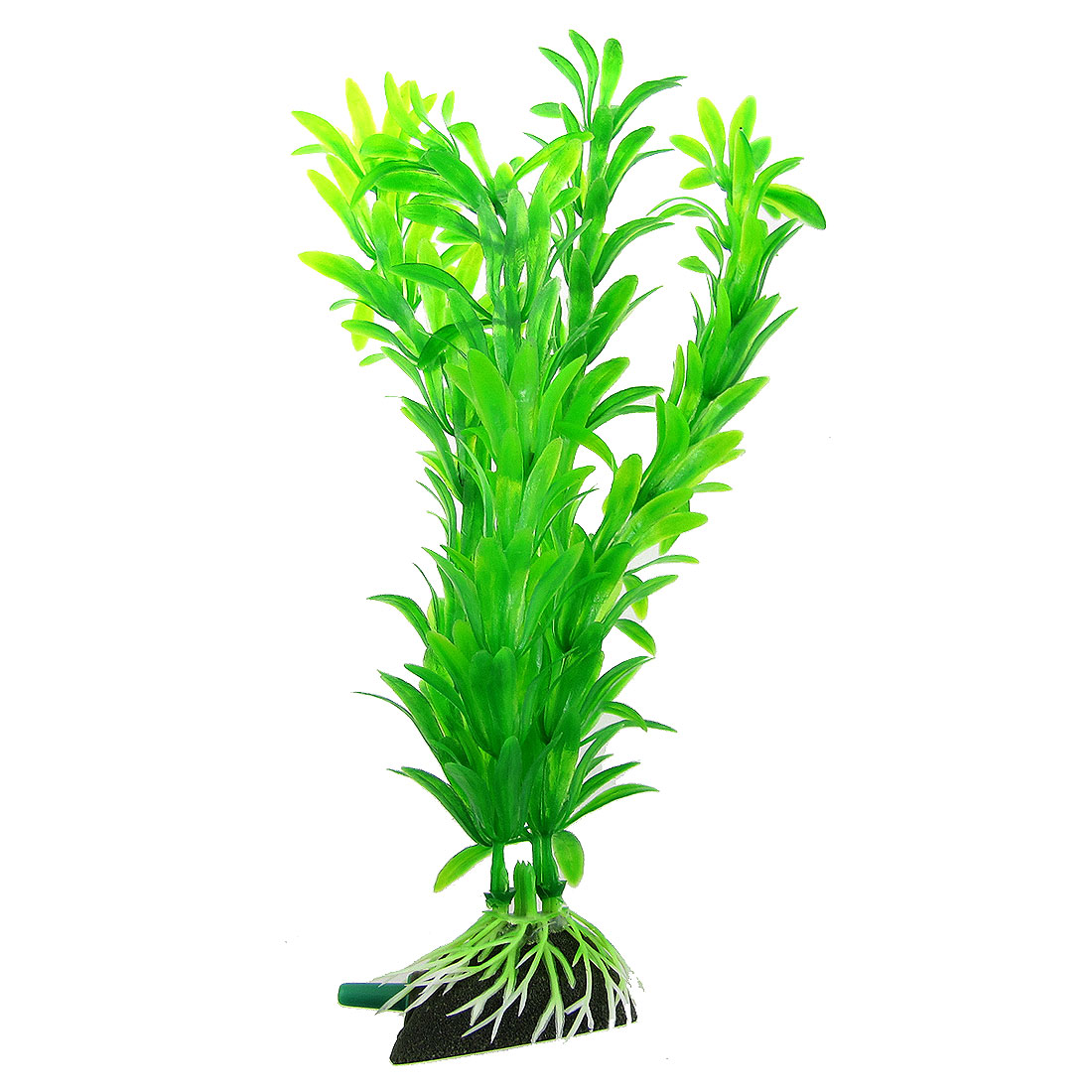 "8.3"" Height Floating Grass Green Plastic Plant Aquarium Fish Tank Decor w Air Stone"