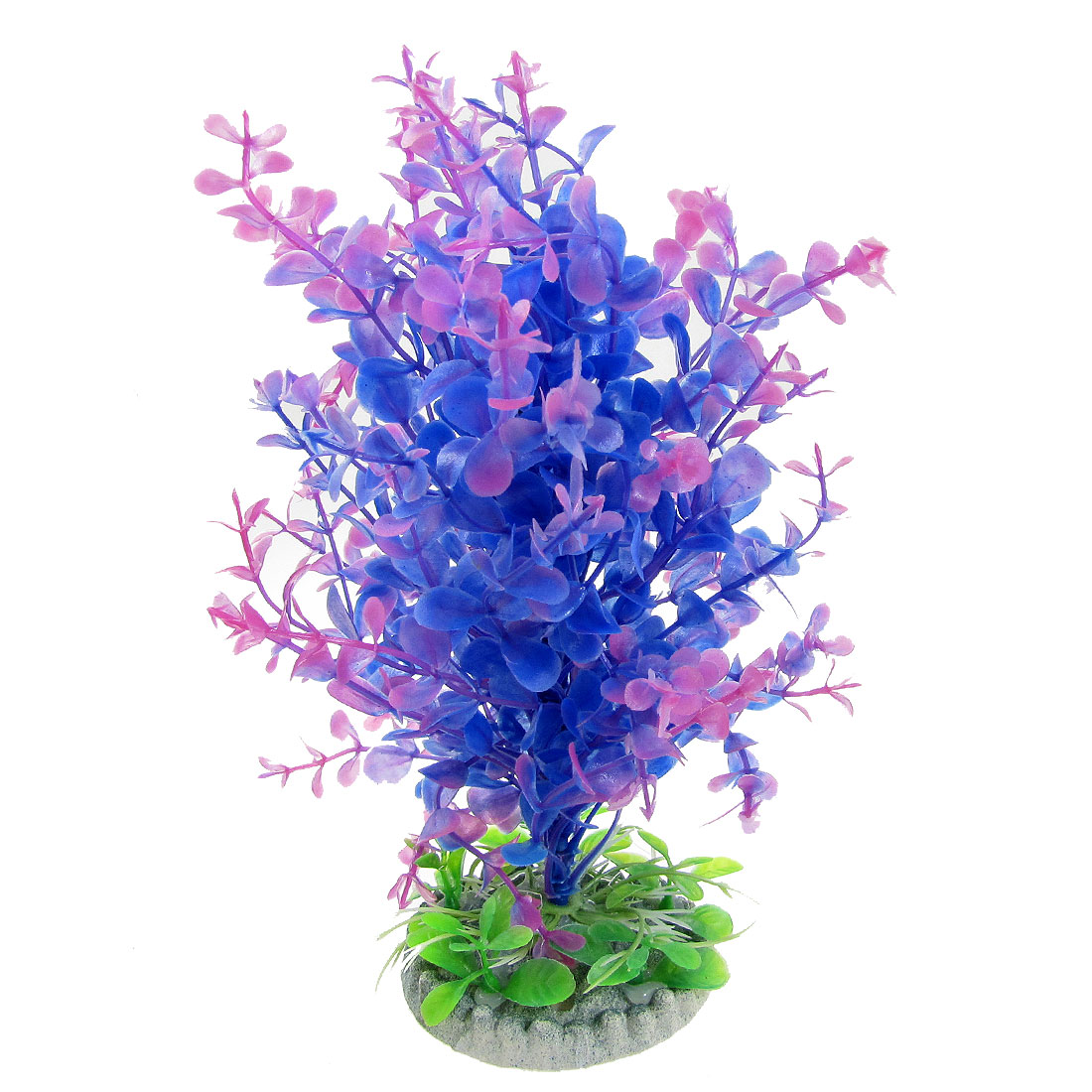 "Simulated Blue Purple Plastic Plant Decoration 7"" for Aquarium"