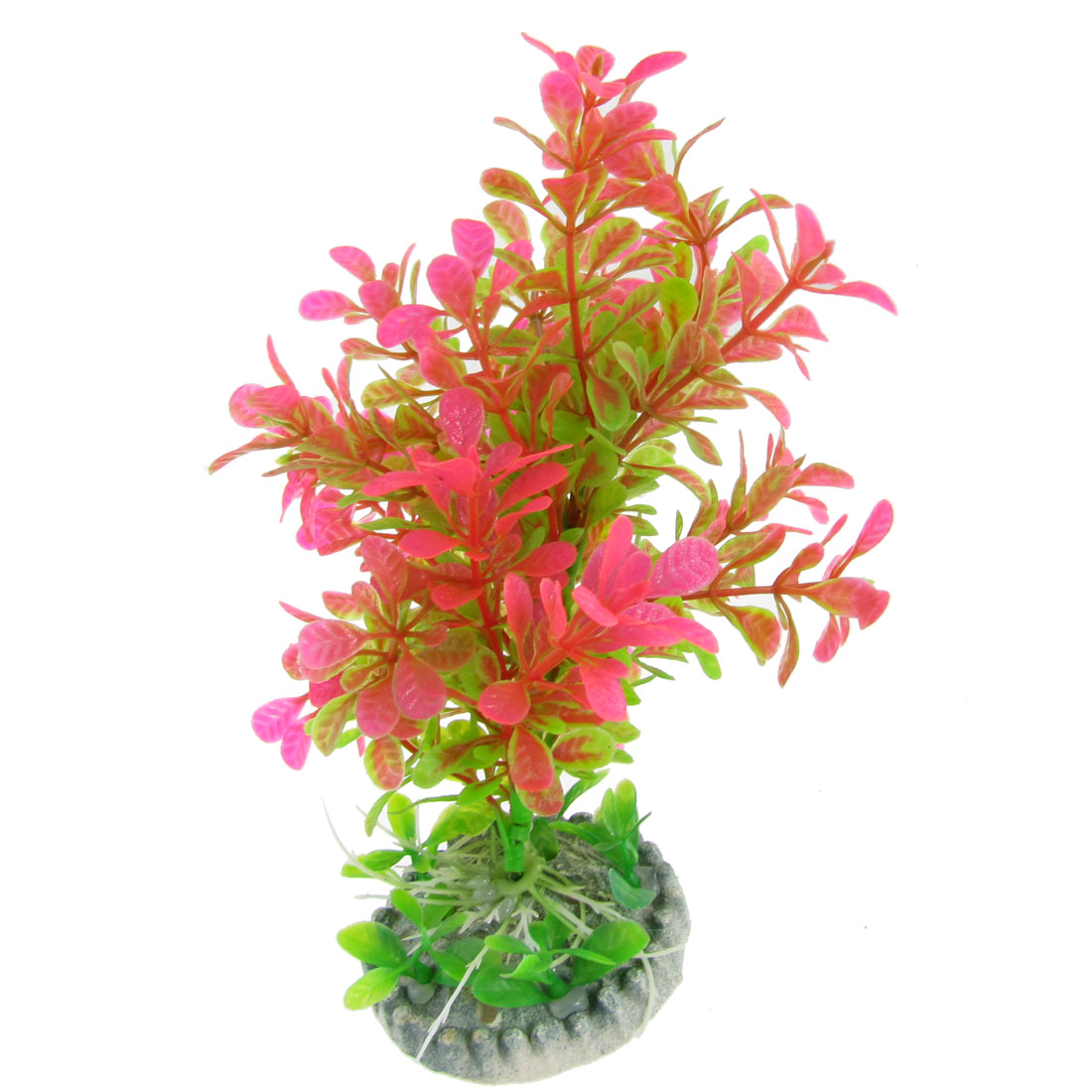 "6.9"" High Fuchsia Green Plastic Emulational Underwater Plants Grass Decor for Aquarium"