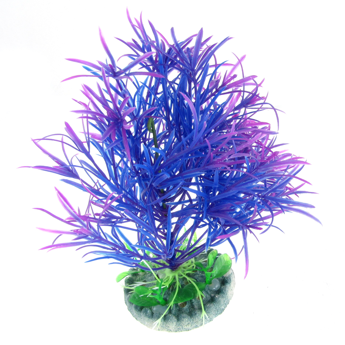 Purple Blue Plastic Artificial Leaf Plant for Aquarium Fish Tank
